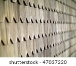 wood tile wall on the outside...   Shutterstock . vector #47037220