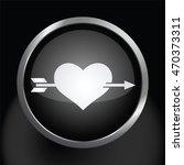 arrow through heart icon glossy ... | Shutterstock .eps vector #470373311