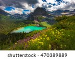 landscape view of grinnell lake ... | Shutterstock . vector #470389889