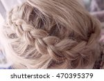cute elegant wedding hairdo in... | Shutterstock . vector #470395379