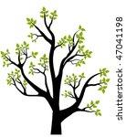 spring tree  vector... | Shutterstock .eps vector #47041198