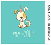 Birthday Card  With Cute...