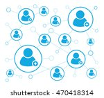 human connections | Shutterstock .eps vector #470418314