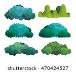 cartoon bushes vector... | Shutterstock .eps vector #470424527