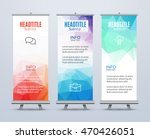 banner stand design template... | Shutterstock .eps vector #470426051