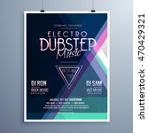 electro music party event flyer ... | Shutterstock .eps vector #470429321