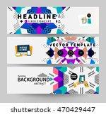 banners set  trendy geometric...   Shutterstock .eps vector #470429447
