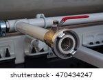 gasoline pipeline with cranes.... | Shutterstock . vector #470434247