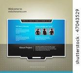 web site design template ... | Shutterstock .eps vector #47043529