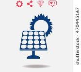 solar collector vector icon on...   Shutterstock .eps vector #470445167