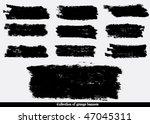 grunge banners. vector. | Shutterstock .eps vector #47045311