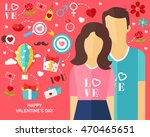 happy valentine's day consept... | Shutterstock .eps vector #470465651