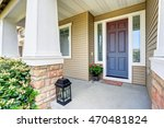 front entry door with concrete... | Shutterstock . vector #470481824
