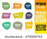 premium quality logo badge and... | Shutterstock .eps vector #470500745