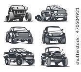 set off road suv car monochrome ... | Shutterstock .eps vector #470504921