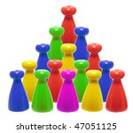 rows of game pegs on white... | Shutterstock . vector #47051125