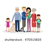 family. parents  children ... | Shutterstock .eps vector #470515835