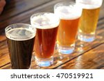 a selection of four craft beers ... | Shutterstock . vector #470519921