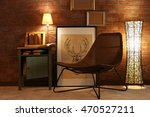 comfortable chair in room... | Shutterstock . vector #470527211
