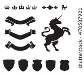 heraldic silhouettes for signs... | Shutterstock .eps vector #470537921