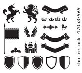 heraldic silhouettes for signs... | Shutterstock .eps vector #470537969