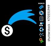 lucky money icon with bonus...   Shutterstock . vector #470551949