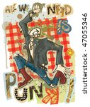 all we need is punk.  jpeg... | Shutterstock . vector #47055346