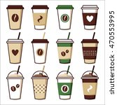 Coffee Cups Set Clipart  Coffe...