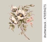 watercolor painting bouquet of... | Shutterstock . vector #470554271