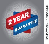 2 year guarantee arrow tag sign. | Shutterstock .eps vector #470564831