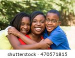 african american mother and her ... | Shutterstock . vector #470571815