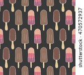 seamless pattern with ice cream | Shutterstock .eps vector #470572937