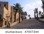 the old streets of jaffa at... | Shutterstock . vector #47057344