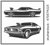 muscle car vector poster logo... | Shutterstock .eps vector #470579225