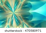 Fractal Aqua Blue And Gold...