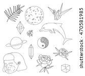 cartoon doodle set. vector...   Shutterstock .eps vector #470581985