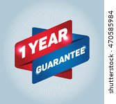 1 year guarantee arrow tag sign. | Shutterstock .eps vector #470585984