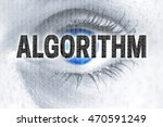 algorithm eye looks at viewer... | Shutterstock . vector #470591249