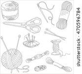 items for needlework  vector ... | Shutterstock .eps vector #470596784