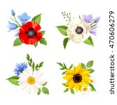 vector set of colorful wild... | Shutterstock .eps vector #470606279