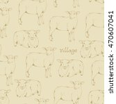 seamless beige pattern with... | Shutterstock .eps vector #470607041