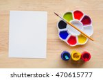 top view of paintbrushes... | Shutterstock . vector #470615777