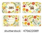 cute autumn gift tags bundle... | Shutterstock .eps vector #470622089