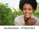 beautiful woman smiling | Shutterstock . vector #470622401