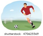 football player is practicing...   Shutterstock .eps vector #470625569