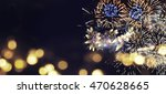fantastic colorful fireworks... | Shutterstock . vector #470628665
