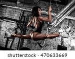fitness girl in the gym | Shutterstock . vector #470633669