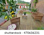 lounge garden in wood | Shutterstock . vector #470636231