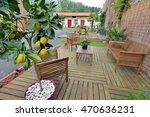 lounge garden in wood | Shutterstock . vector #470636231