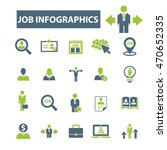 job infographics icons | Shutterstock .eps vector #470652335